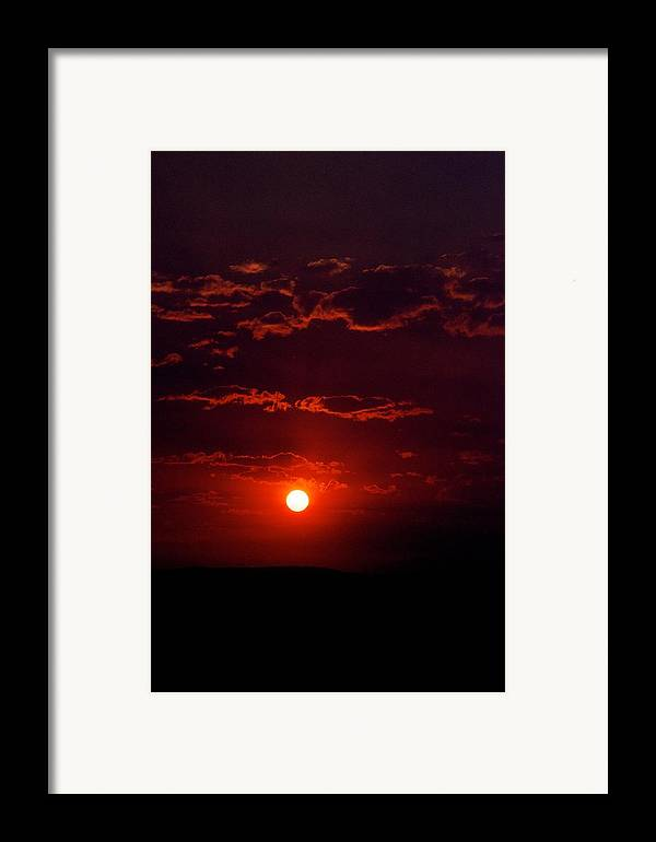 Sunset Framed Print featuring the photograph Velvet Sun by Kevin Bone