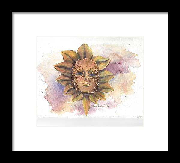 Art+of+mary+dunham+walters Framed Print featuring the painting Venetian Mask IIi by Mary Dunham Walters