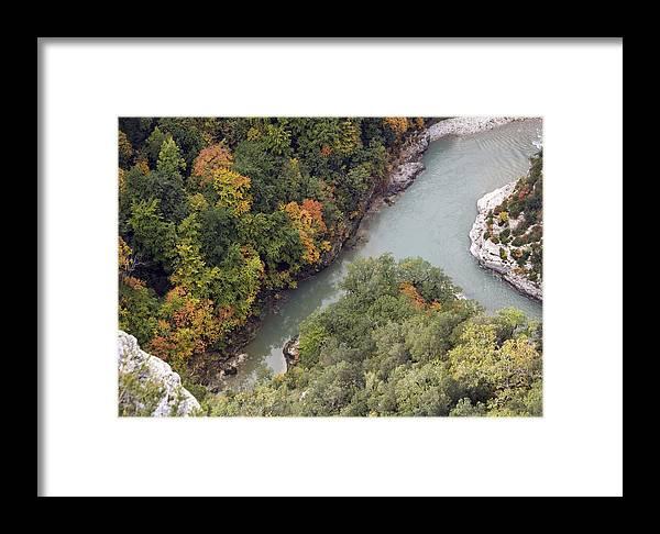 Verdon River Framed Print featuring the photograph Verdon River by Bob Gibbons