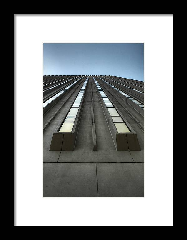 Vertical Framed Print featuring the photograph Vertical Reflections by David Paul Murray