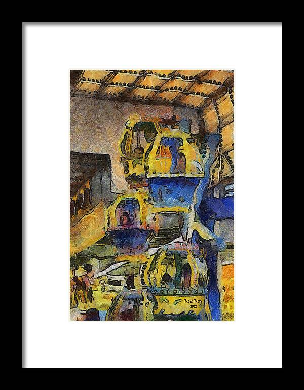 Amusement Ride Framed Print featuring the photograph Very Amusing by Trish Tritz