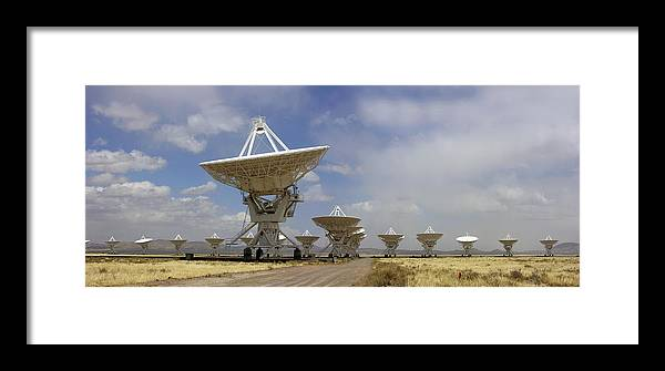 Vla Framed Print featuring the photograph Very Large Array (vla) Radio Antennae by Tony Craddock