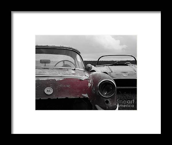 Chevy Framed Print featuring the photograph Vettes At Rest by Chad Thompson