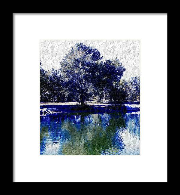 Vibrant Framed Print featuring the photograph Vibrant Blue by Michelle Frizzell-Thompson