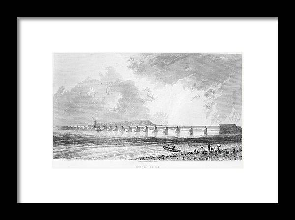 1868 Framed Print featuring the photograph Victoria Bridge by Granger