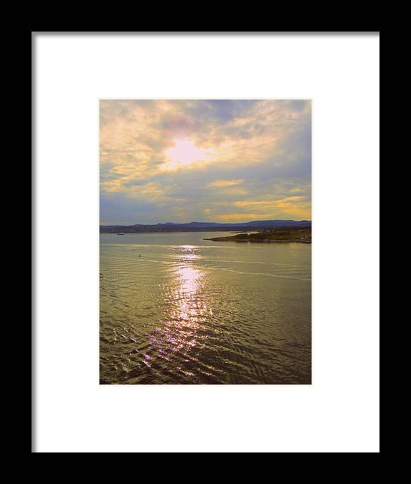 Harbor Framed Print featuring the photograph Victoria Harbor Sunset by Randall Weidner
