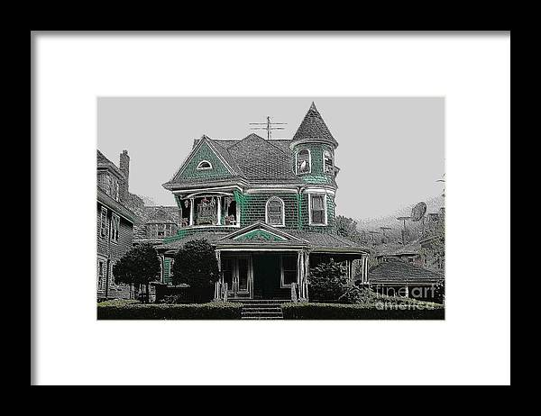 Ditmas Framed Print featuring the photograph Victorian Brooklyn by Mark Gilman