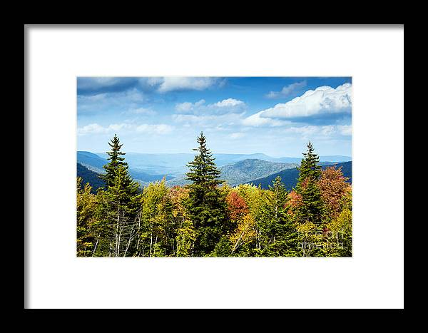 Fall Framed Print featuring the photograph View Along The Highland Scenic Highway by Thomas R Fletcher