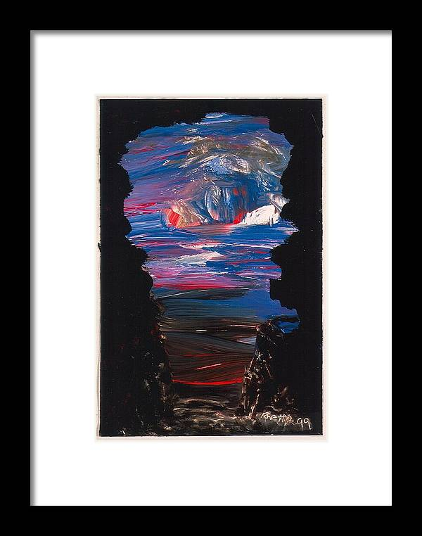 Paint Framed Print featuring the painting View From A Cave On Venus by Rhetta Hughes