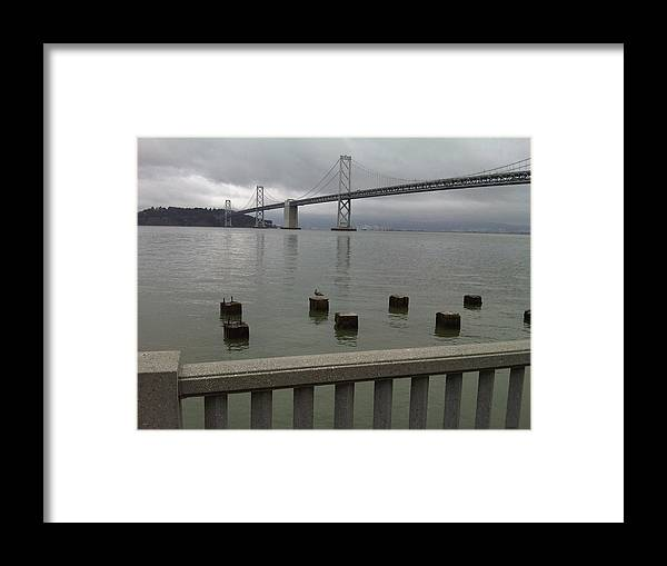 Bay Bridge Framed Print featuring the photograph View From Embarcadero by Nimmi Solomon