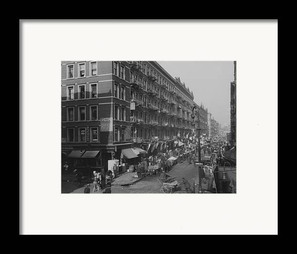 History Framed Print featuring the photograph View From Rivington Street On New York by Everett
