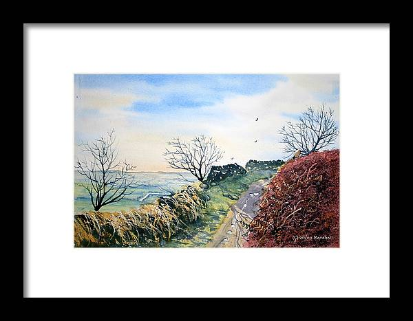 Landscape Framed Print featuring the painting View From Sutton Bank In North Yorkshire by Glenn Marshall