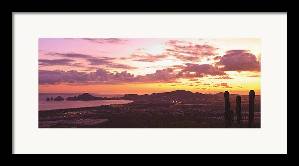 Baja California Framed Print featuring the photograph View Of Cabo San Lucas And Tip Of Baja by Stuart Westmorland