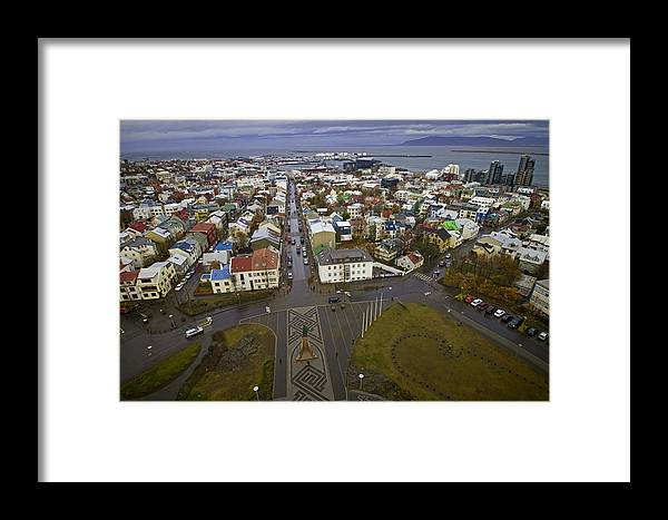 Revykjavik Framed Print featuring the photograph View Of Reykjavik by Sven Brogren