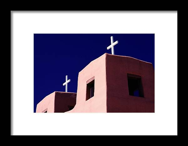 North America Framed Print featuring the photograph View Of The Shadowed Walls Of An Adobe by Todd Gipstein