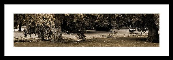 Landscape Framed Print featuring the photograph View by Sandor Petroman