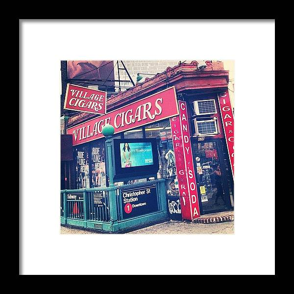 Summer Framed Print featuring the photograph Village Cigars by Randy Lemoine