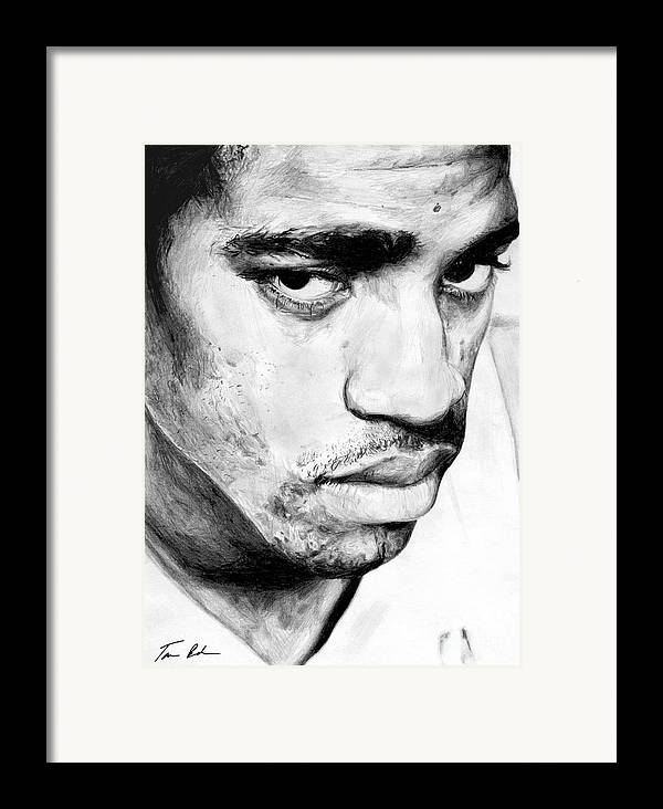 Vince Carter Framed Print featuring the drawing Vince Carter by Tamir Barkan
