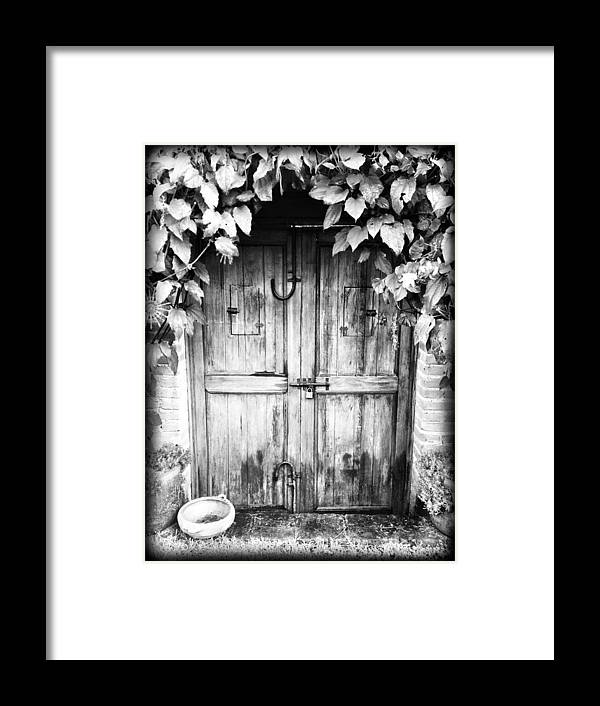 Door Framed Print featuring the photograph Vintage Door by Bryan Bolvito