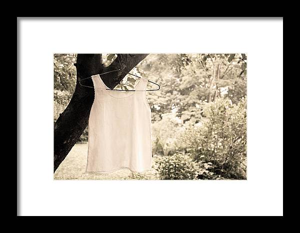 Vintage Linen Cami Framed Print featuring the photograph Vintage Linen Cami by Brooke T Ryan