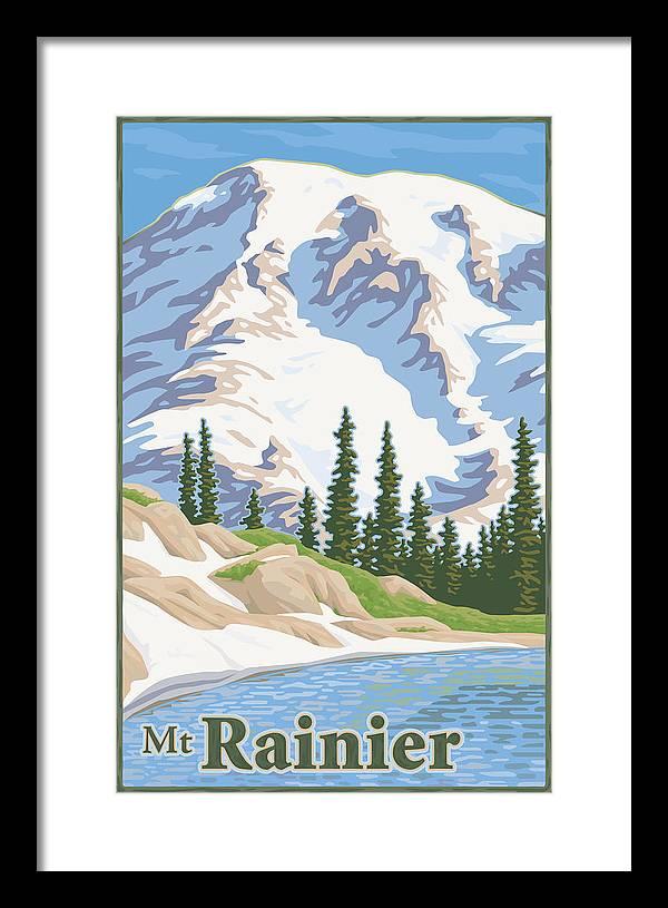 Mount Rainier Framed Art Prints Fine Art America
