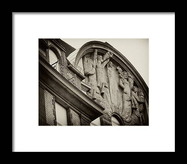 Paris Framed Print featuring the photograph Vintage Paris Building Facade by Tony Grider