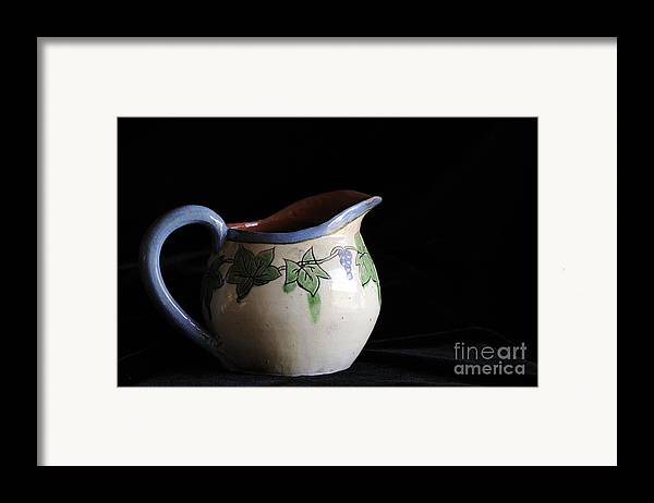 Pitcher Framed Print featuring the photograph Vintage Pitcher by Nancy Greenland