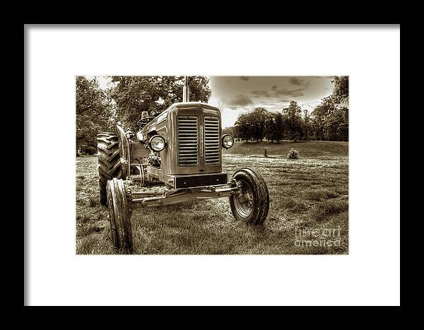 Tractor Framed Print featuring the photograph Vintage Tractor by Gavin Wilson
