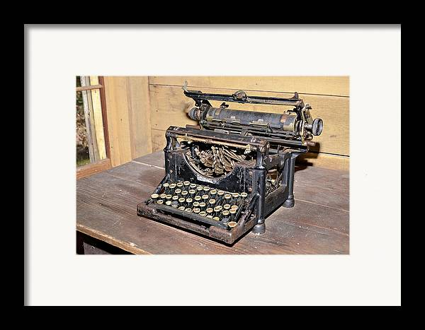 Framed Print featuring the photograph Vintage Typewriter by Susan Leggett