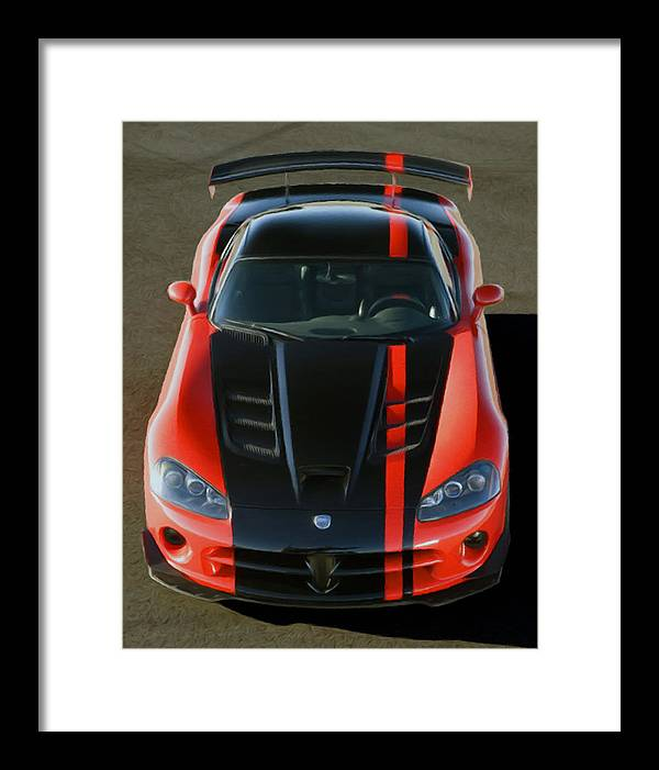 Auto Framed Print featuring the pastel Viper Acr by Rodney Mann