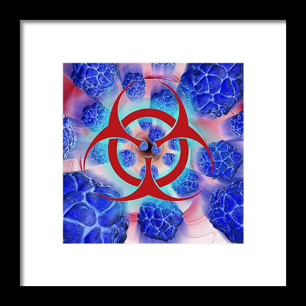 Artwork Framed Print featuring the photograph Viral Pathogens, Conceptual Artwork by Laguna Design