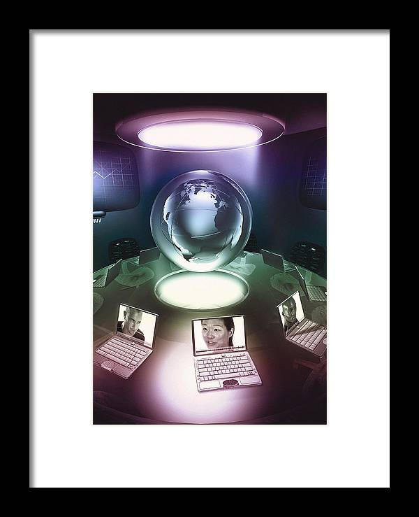 Laptop Framed Print featuring the photograph Virtual Office by Coneyl Jay