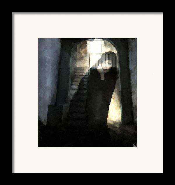 Woman Framed Print featuring the digital art Visitor From Long Ago by Gun Legler