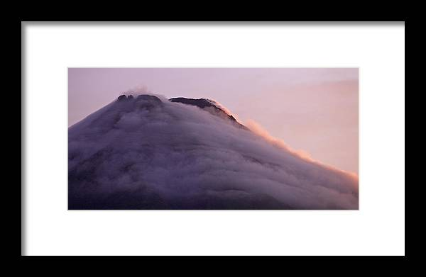 Framed Print featuring the photograph Volcan by Simone Pastore