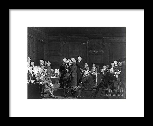 1776 Framed Print featuring the photograph Voting Independence, 1776 by Granger