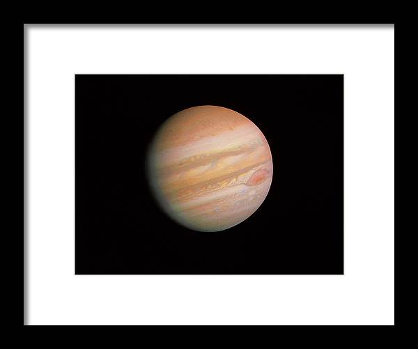 Voyager Imagery Framed Print featuring the photograph Voyager 1 Photo Of Jupiter by Nasa
