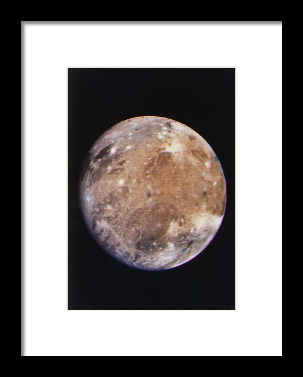 Voyager 1 Imagery Framed Print featuring the photograph Voyager I Photo Of Ganymede, Jupiter's Third Moon by Nasa