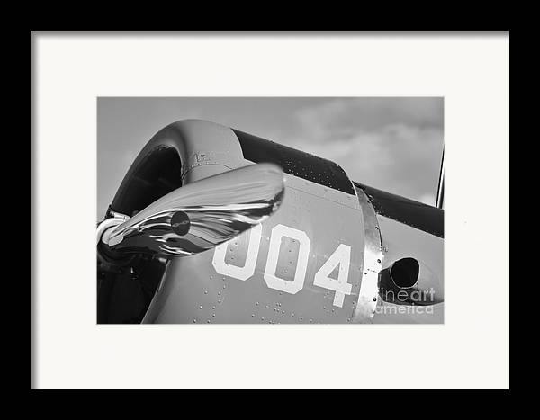 Vultee Bt-13 Valiant Framed Print featuring the photograph Vultee Bt-13 Valiant In Bw by Lynda Dawson-Youngclaus