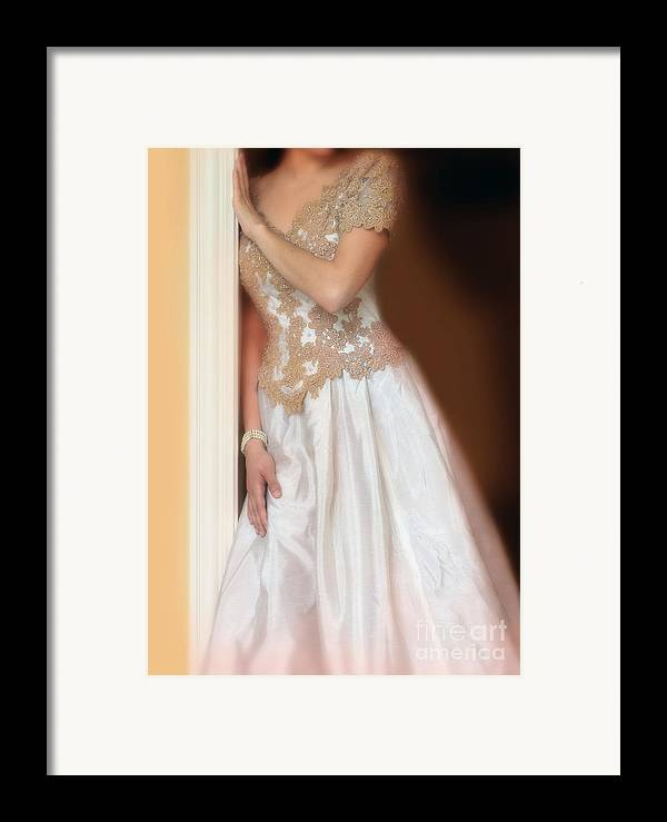Beautiful Framed Print featuring the photograph Waiting By The Door by Jill Battaglia