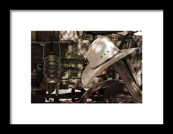 Cowboy Framed Print featuring the photograph Waiting For The Cowboy by Toni Hopper
