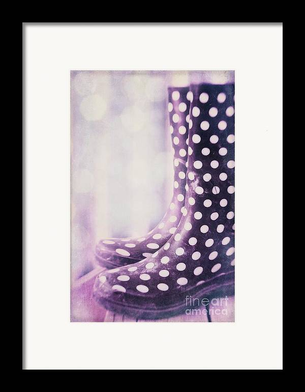 Polka Dots Framed Print featuring the photograph Waiting For The Rain by Priska Wettstein