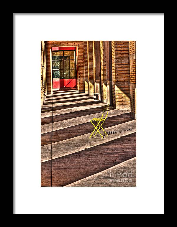 Chair Framed Print featuring the photograph Waiting In Between by Anca Jugarean