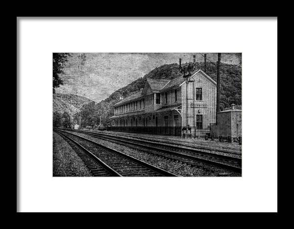 Depot Framed Print featuring the photograph Waiting On The Ghost Train by Christine Annas