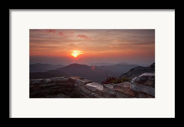 Blue Framed Print featuring the photograph Wall Of Orange by Daniel Lowe