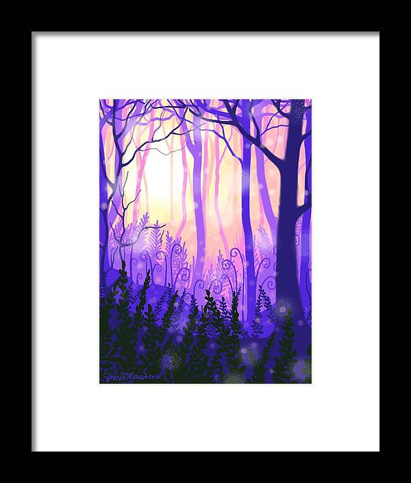 Forest Framed Print featuring the digital art Wanderlight by Sharon Marcella Marston