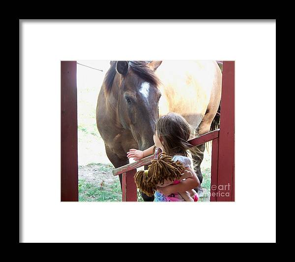 Horse Framed Print featuring the photograph Want To Play by Sheri LaBarr