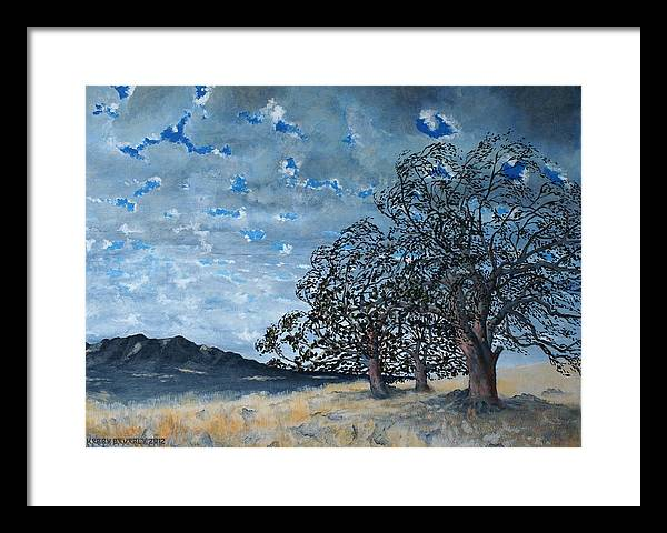 Mountains Framed Print featuring the painting Warm Front by Kerry Beverly