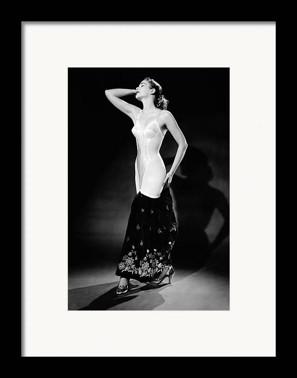 History Framed Print featuring the photograph Warner Corset Provided Full Body by Everett