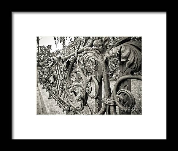 Gates Framed Print featuring the photograph Warsaw - Poland by Natalia Babanova