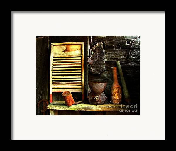 Old Washboards Framed Print featuring the photograph Washboard Still Life by Julie Dant